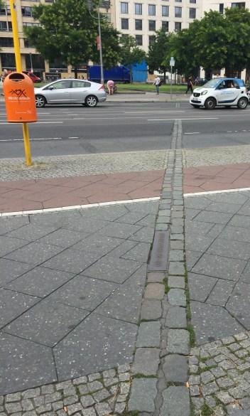 ancien emplacement du mur de Berlin