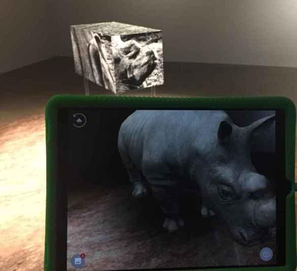 Rhinocéros blanc du Nord en réalité virtuelle