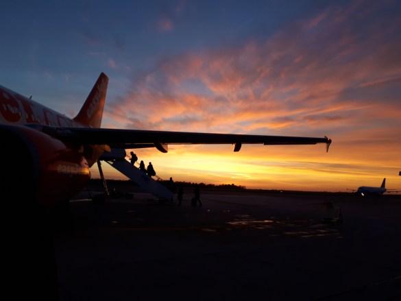 Grand départ en avion