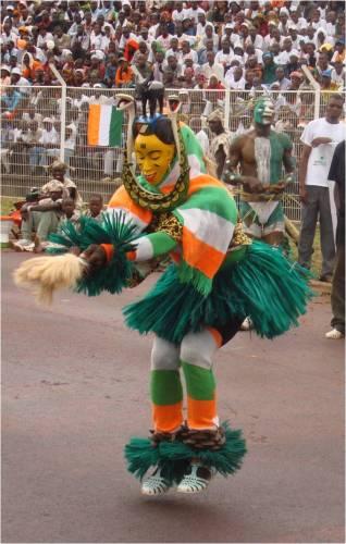 Danse masque Zaouli Côte d'Ivoire