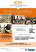 Une annonce pour le populaire atelier de cuisine communautaire interculturelle IKUEN.