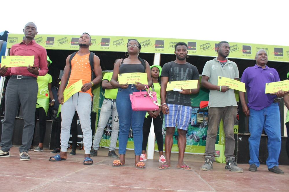 Les lauréat ayant reçu leurs prix