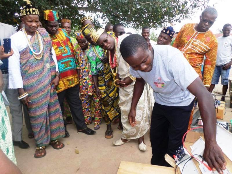 Semaine africaine des sciences et technologies, Mobile Labo, village, Togo, Agokpala, préfecture de l'Avé, Next Einstein Forum, Dodzi Aglago, Togbui Romain Touakli IV,