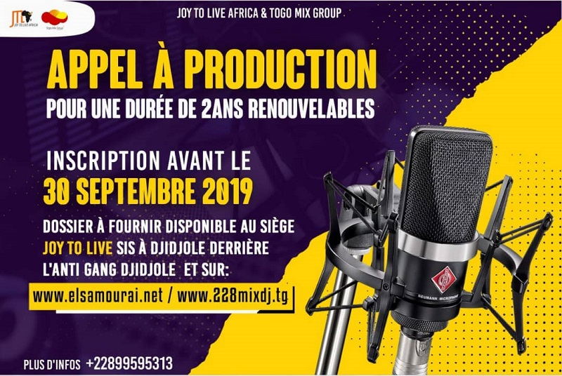Togo-Lancement d'un appel à production d'artistes
