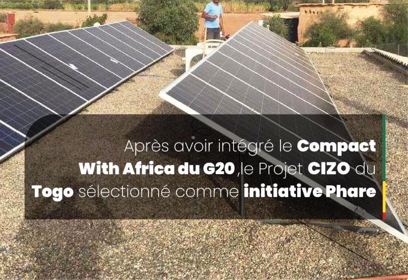 Initiative, Présidentielle, CIZO, Compact With Africa, G20, Emmanuel Macron, One Planet Summit, Distributed Energy Service Companies, DESCO, Soleva, BBOXX, électrification solaire, Togo
