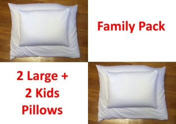 organic buckwheat pillow family pack