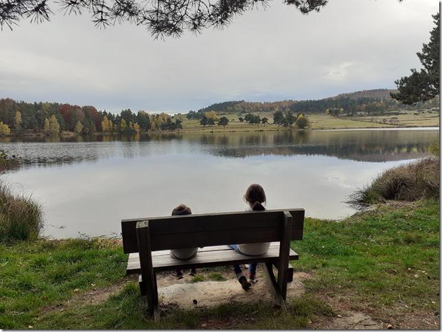 enfants banc lac