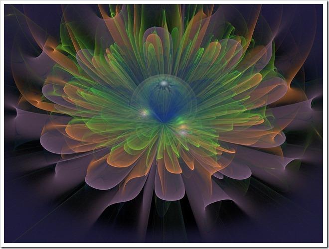 fractales de fleurs, centrage energetique, multidimension