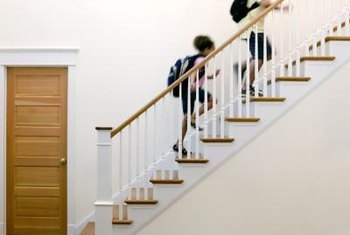 Stair Baluster Safety Home Guides Sf Gate   Stair Rails And Spindles   Dark   Restaining   Modern   Spiral   Glass