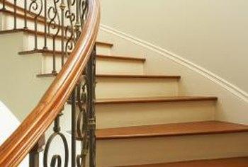 How To Repair A Wood Stair Railing Home Guides Sf Gate | Wood Stair Railings Interior | Cable Stair Railing | Timeless | Before And After | Colonial | 2Nd Floor