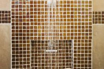 how long should shower tile grout dry