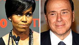 Michelle Obama, Silvio Berlusconi (WireImage.com)