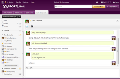 [Yahoo! Messenger for the Web]