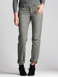 Worn-in boyfriend jeans