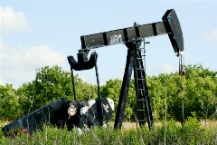 Drilling for oil near Houston
