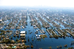 New Orleans under water after Katrina