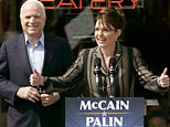 John McCain and Sarah Palin at a rally (AP)