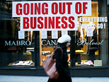 The British American House clothing store is going out of business in New York, Wednesday, Feb. 4, 2009 (AP Photo/ FOX); Kate Gosselin (AP Photo/Mark Lennihan)