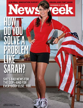 Palin on the cover of Newsweek