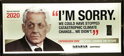 Nicolas Sarkozy Greenpeace ad