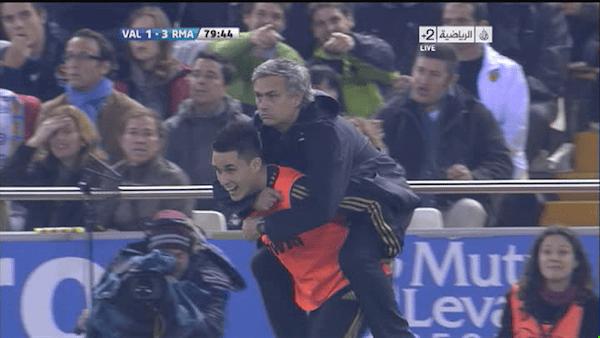 mourinho rides callejon