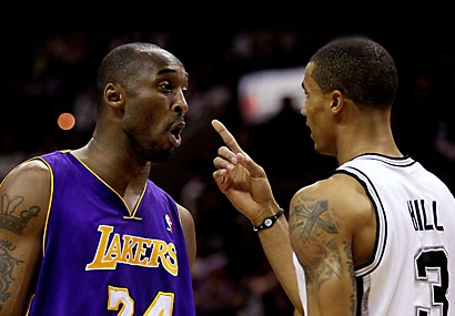 Kobe Bryant missed missed 19 of 27 shots in the Lakers' loss to the Spurs.
