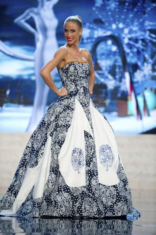 Miss Slovak Republic Stepanova performs onstage at the 2012 Miss Universe National Costume Show at PH Live in Las Vegas
