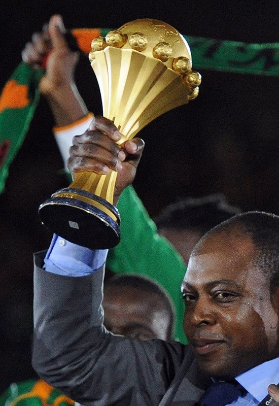 Former African Footballer Of The Year Kalusha Bwalya Holds AFP/Getty Images