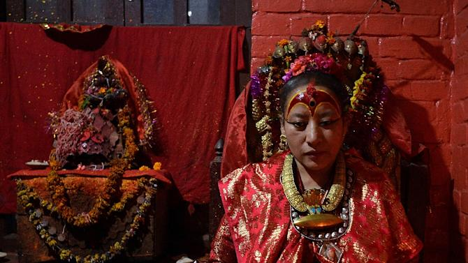 Dhana Kumari Bajracharya, the longest reigning Kumari of Nepal, left her quarters in Kathmandu for the first time in three decades as tremors reduced nearby temples to rubble in April
