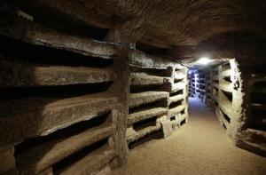 A view shows the catacomb of Priscilla in Rome