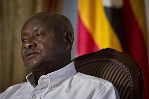 Republic of Uganda President Yoweri Museveni speaks …