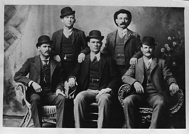 Butch Cassidy shown at bottom right. Click photos to view more images. (AP/Nevada Historical Society, File)