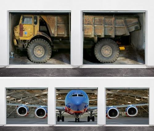 Ultra-realistic garage door art