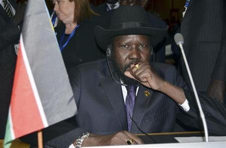 South Sudan's President Salva Kiir attends the opening ceremony of the 20th Ordinary Session of the Assembly of Heads of State and Governments at the African Union (AU) headquarters in the Ethiopian capital Addis Ababa January 27, 2013. Credit: Reuters/Tiksa Negeri