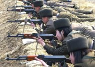 North Korean soldiers attend military training in this picture released by the North's official KCNA news agency in Pyongyang March 7, 2013. REUTERS/KCNA (NORTH KOREA - Tags: POLITICS MILITARY)ATTENTION EDITORS - THIS PICTURE WAS PROVIDED BY A THIRD PARTY. REUTERS IS UNABLE TO INDEPENDENTLY VERIFY THE AUTHENTICITY, CONTENT, LOCATION OR DATE OF THIS IMAGE. THIS PICTURE IS DISTRIBUTED EXACTLY AS RECEIVED BY REUTERS, AS A SERVICE TO CLIENTS. QUALITY FROM SOURCE. NO THIRD PARTY SALES. NOT FOR USE BY REUTERS THIRD PARTY DISTRIBUTORS