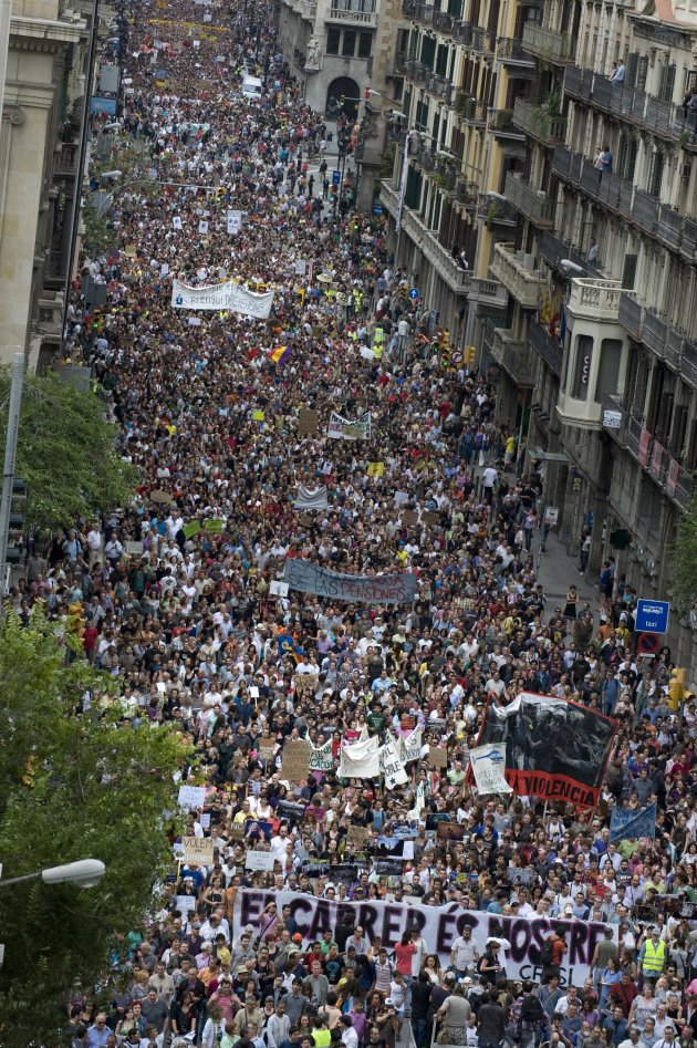 Demonstrations Against Eurozone Leaders' Agreed Pact For The Euro