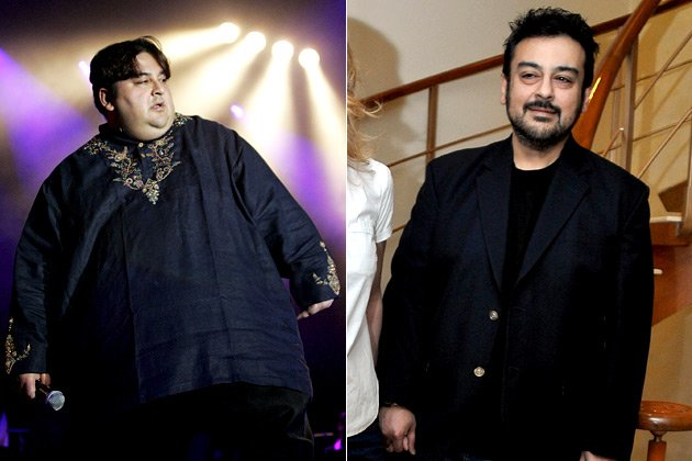 Adnan Sami's before-after