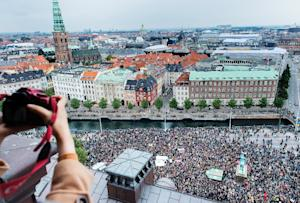 Some 30,000 people who joined a rally in Copenhagen …