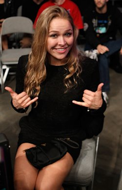 Ronda Rousey poses for a picture during a Strikeforce event. (Getty)
