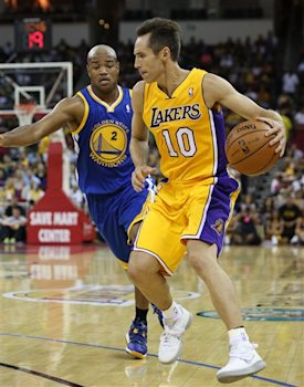 e04cb28ad58f Steve Nash had five points and three assists in his preseason debut with the  Lakers. (AP)Yes