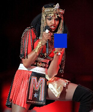 MIA on stage at Super Bowl XLVI (Christopher Polk/Getty Images)