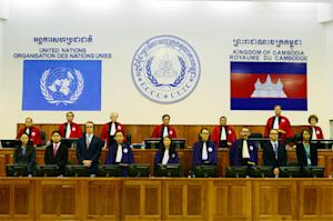Cambodian and international judges stand in the ECCC …