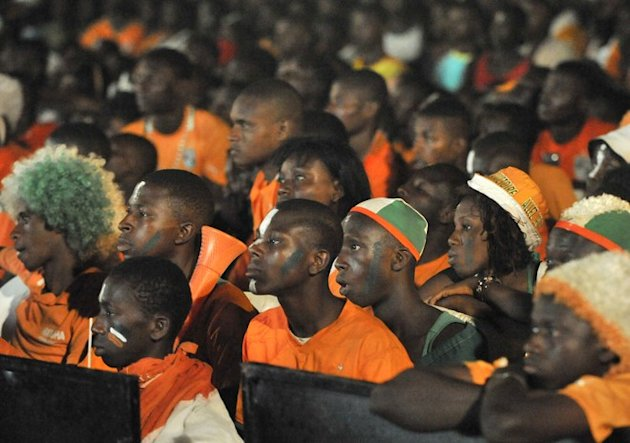Supporters Of The Ivory Coast's National Football Team Watch The Africa Cup Of Nations (CAN 2012) Final Football Match AFP/Getty Images