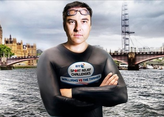 David Walliams thames swim