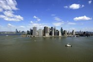 The New York City skyline is shown in 2011. The sea level on a stretch of the US Atlantic coast that features the cities of New York, Norfolk and Boston is rising up to four times faster than the global average. (AFP Photo/Jewel Samad)