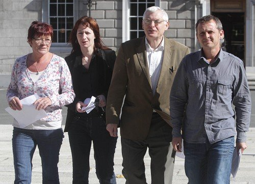 TDs Joan Collins, Clare Daly, Joe Higgins and Richard Boyd Barrett from the United Left Alliance