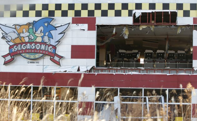 A games arcade destroyed by …