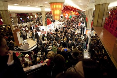 Macy's Black Friday Crowd in New York