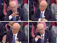 Rupert Murdoch, gives evidence to the Culture, Media and Sport Select Committee on the News of the World phone-hacking scandal in this image taken from TV in Portcullis House in central London Tuesday July 19 2011. (AP Photo/ PA) UNITED KINGDOM OUT