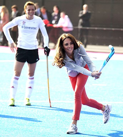 Slim Kate Middleton Plays Field Hockey in Skintight Jeans
